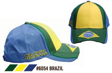 Soccer Caps - Brazil Supporters Cap
